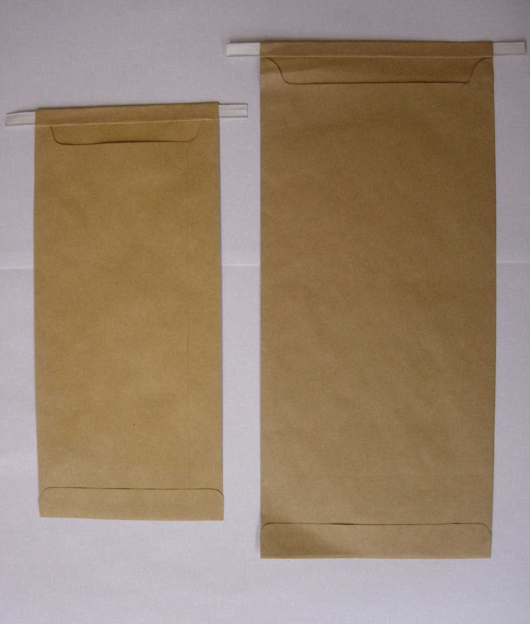 Figure 4. 4x8 inch and 5x10 inch Kraft bags.